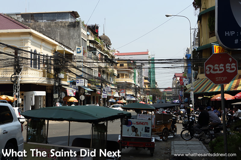 Phnom Penh's streets are a hive of non-stop activity. Walking The Streets Of Phnom Penh.