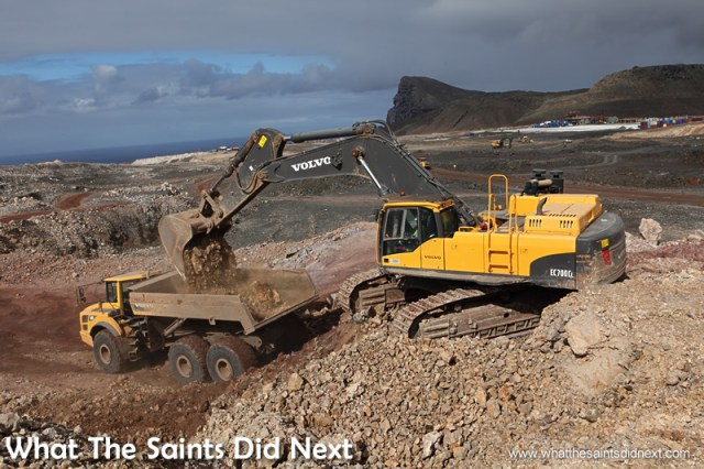 Building the St Helena Airport on Prosperous Bay Plain. It should open in February 2016.