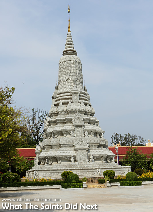 King Norodom's Stupa inside the Royal Palace Cambodia complex.