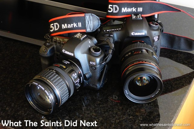 Our two cameras, Canon 5D-MKII and 5D-MKIII.