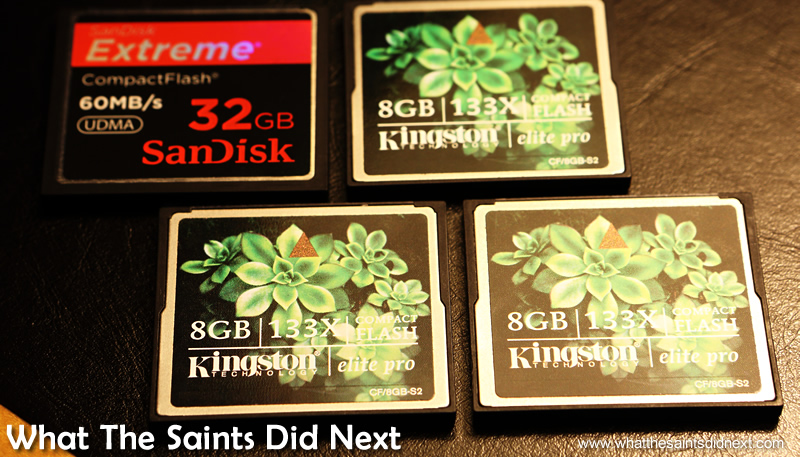 Compact flash memory cards for the Canon cameras.