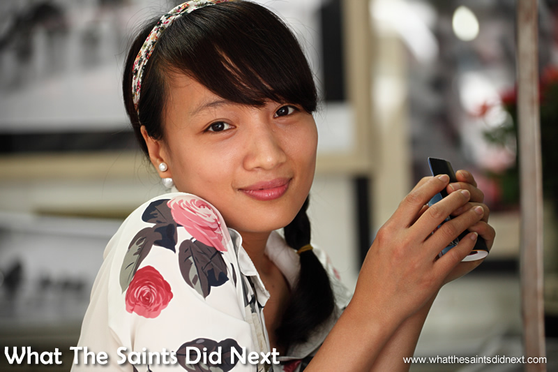 We met the lovely Quynh working in her brother's photography shop.