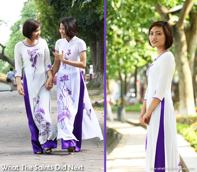 As first time models it was important to get the girls to relax so they could enjoy the shoot.  The Ao Dai photoshoot in Hanoi.