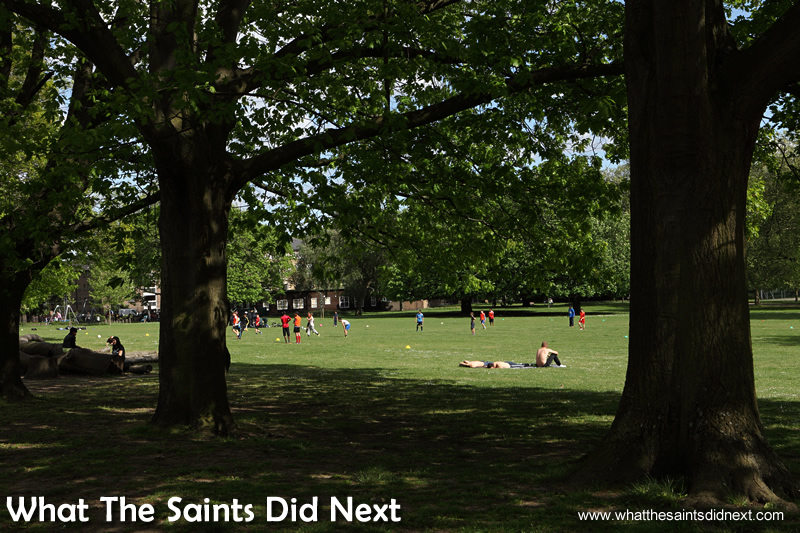 Acton Park - one of the many well used parks in London.