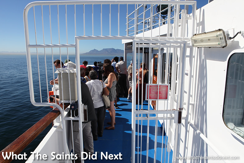 No passengers beyond this point!  Photos of the RMS St Helena.