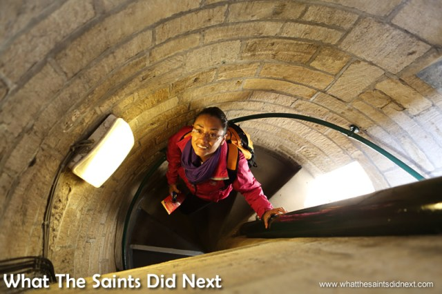 Climbing Carfax Tower is not for the claustrophobic.