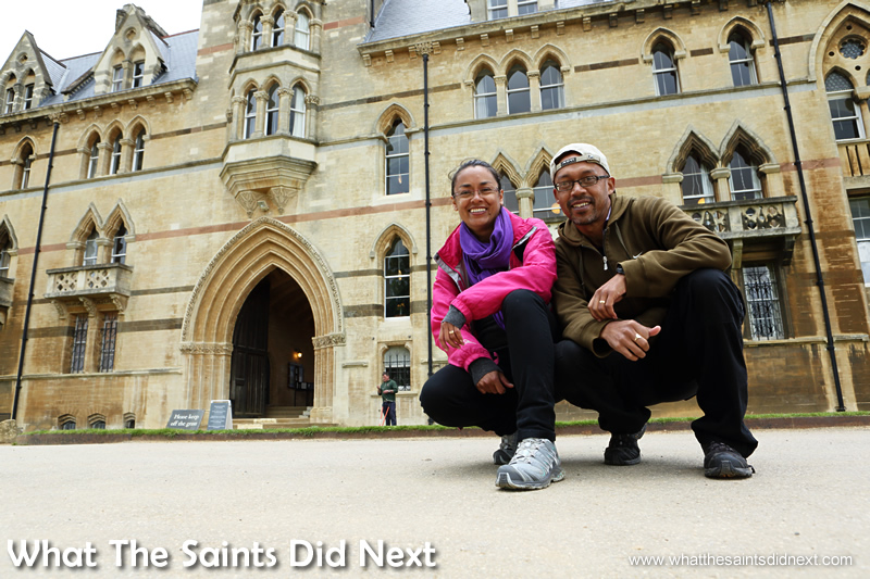 The Christ Church CollegeGrand Hallwas closed but we got to see the outside on our Oxford day trip.