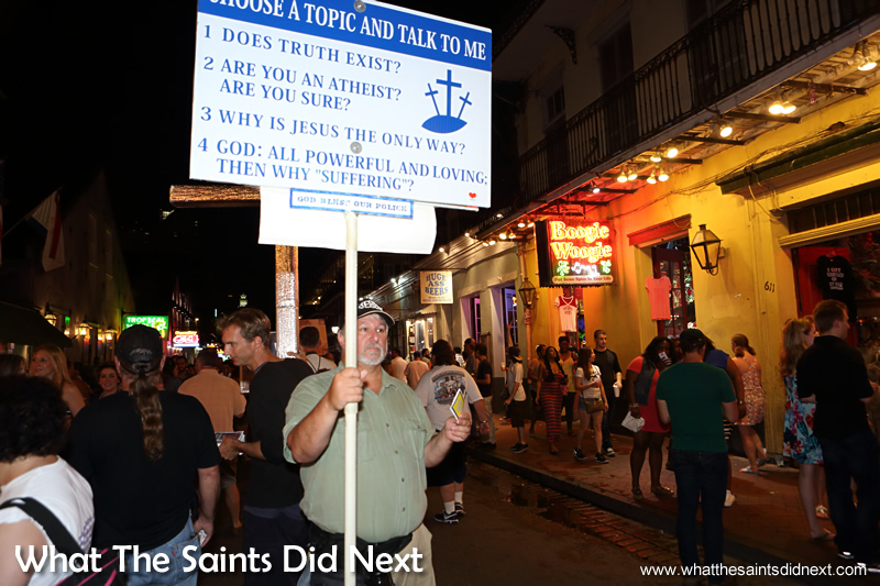 Bourbon Street brings all types out at night.