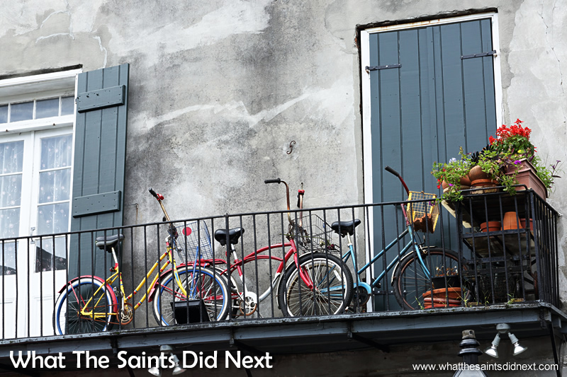 Bicycles are a great way to get around in the French Quarter. The district is just 1.5m above sea level and there are no hills to worry about. 20 stunning reasons to visit the French Quarter in New Orleans.