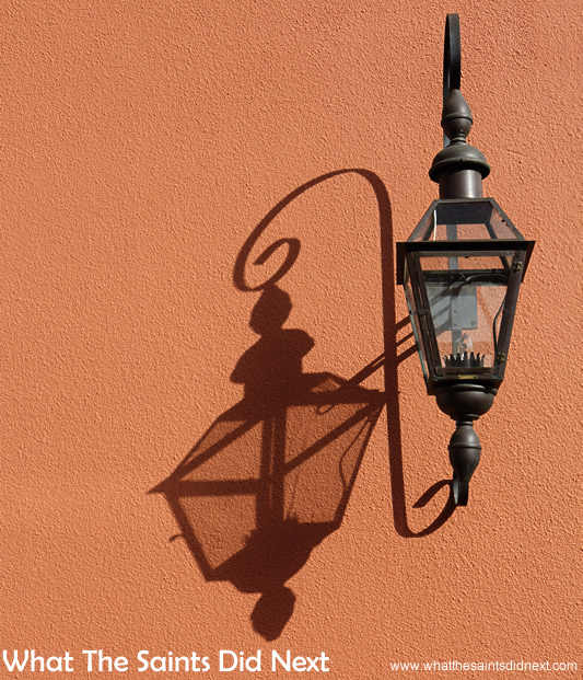 lt's impossible to walk it's narrow streets of the French Quarter and not see something different each time. Little architectural features take on a whole new look at a different time of day when the light changes.