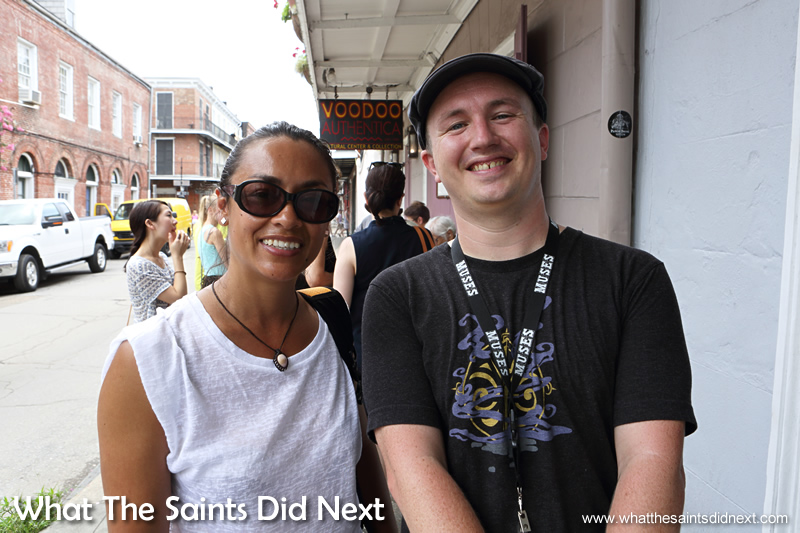 At the end of the best Voodoo tour New Orleans with our guide James McWilliams.