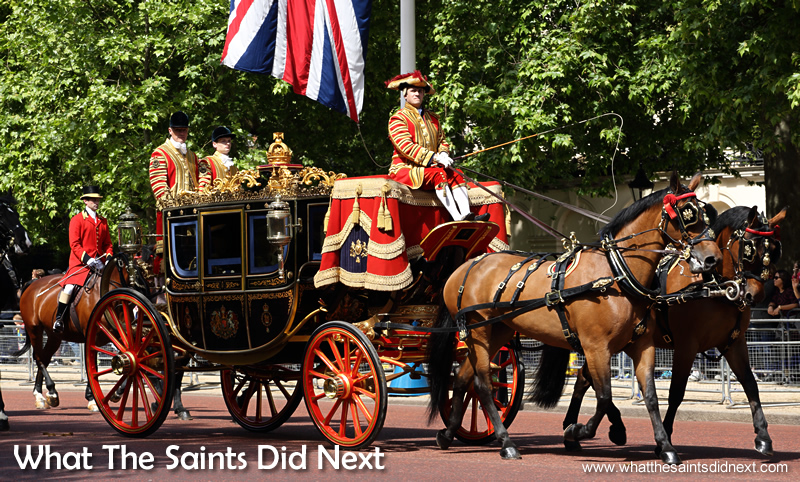 The British Royal Parade is a major tourist attraction for viitors to London. Queen Elizabeth II, longest reigning British Monarch.