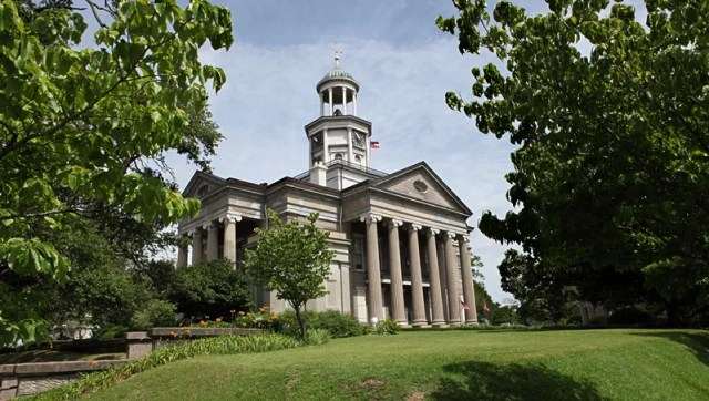 The Old Court House, built in 1858, stands today as Vicksburg's most historic structure.