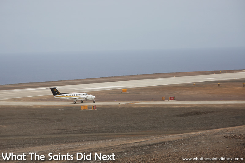 The new normal. Airplanes on St Helena.