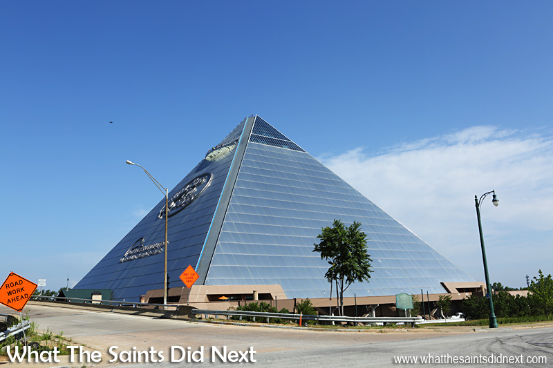 From 2015 the Pyramid in Memphis Tennessee is now the Bass Pro shop, an outdoors and fishing store.