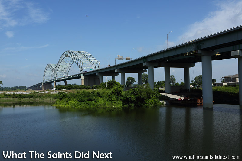 The Hernando De Soto Bridge in Memphis, also known as the 'M' Bridge.