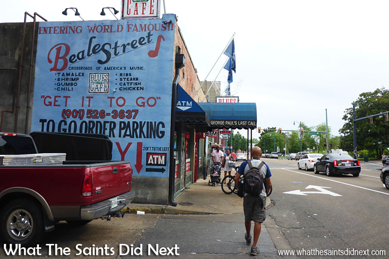 One day to visit Memphis, walking into Beale Street.