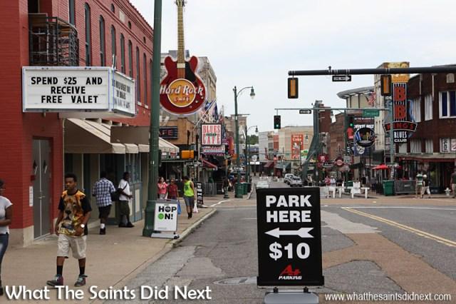 Beale Street, Memphis, Tennessee.