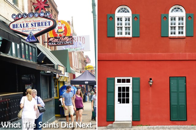 The contrasting styles of Beale Street.