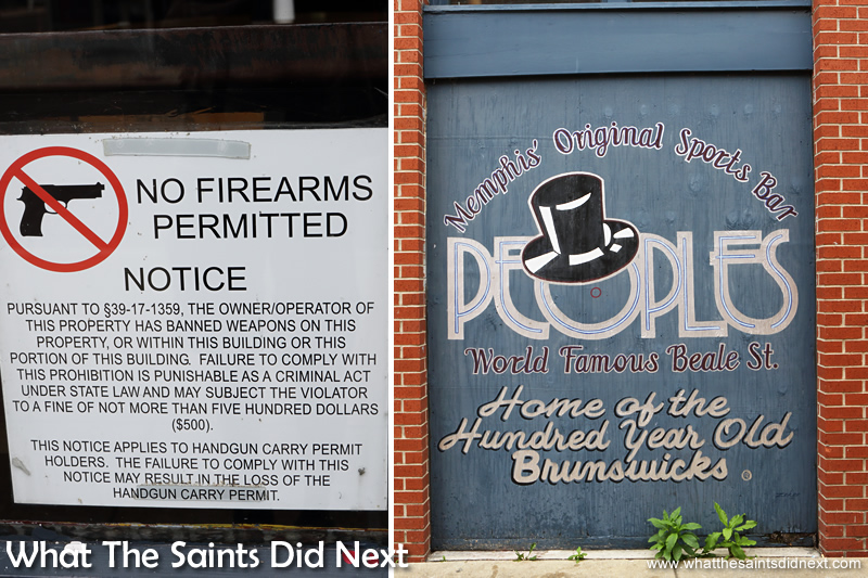 One day to visit Memphis - Colourful murals are brilliant, but it still feels strange seeing 'No Firearms' signs on shops.