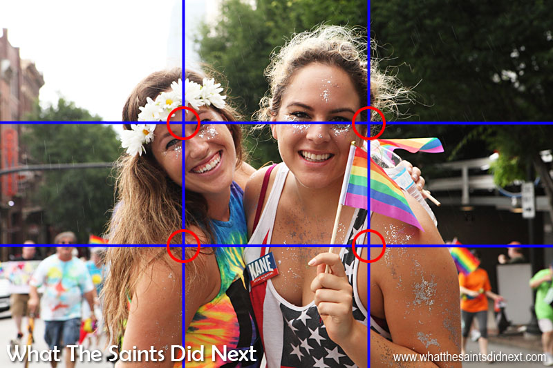The Rule of Thirds in photography being applied at Nashville Pride 2015.