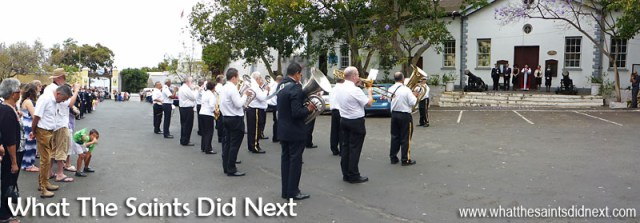 Remembrance Sunday on St Helena 2015. Gettogethers performing in the Grand Parade.
