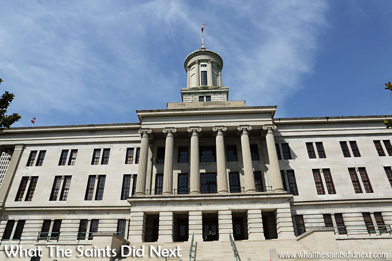 State Of Tennessee Capitol Building is only one of 12 state capitols in the US that doesn't have a dome.