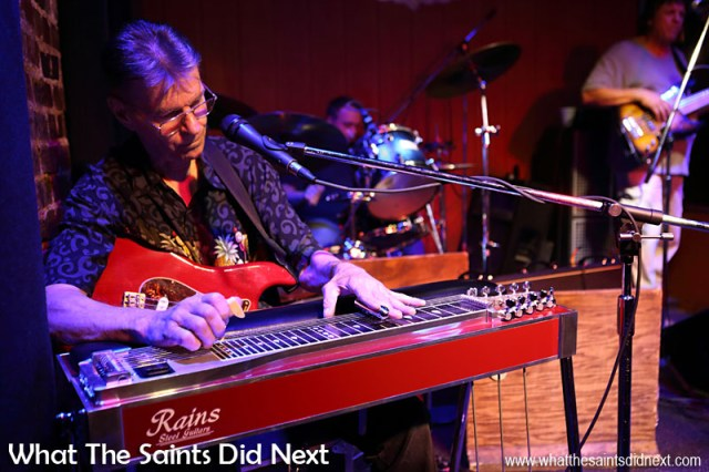 Steel guitar helping add to the great sound for Lefty Ferguson in the 'Second Fiddle.'