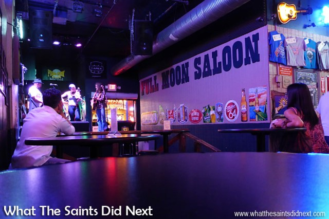 The Rische's performing in the Full Moon Saloon. A Night Out In The Nashville Honky Tonks.
