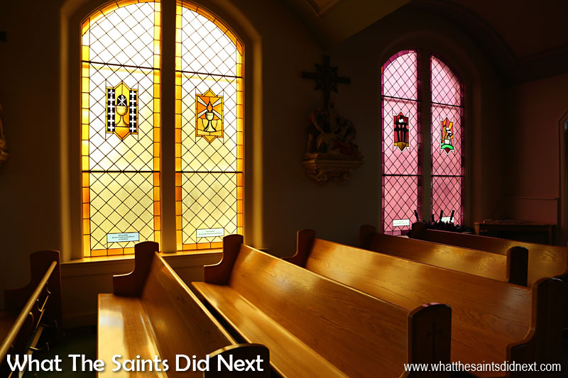 Inside St Jerome's Catholic Church, Kentucky, of which Stephanie is a devout member.
