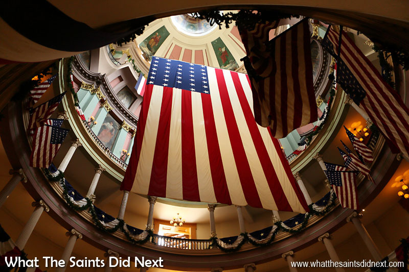 Looking up into the Old Court House rotunda in St Louis. Admission to this impressive building is free so well worth a visit.