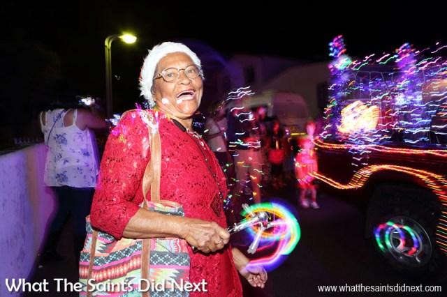 St Helena Christmas street parade the Festival of Lights 2015