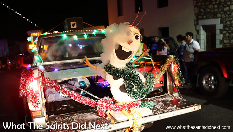 St Helena Festival of Lights 2015 - Olaf was responsible for bringing the snow machine!