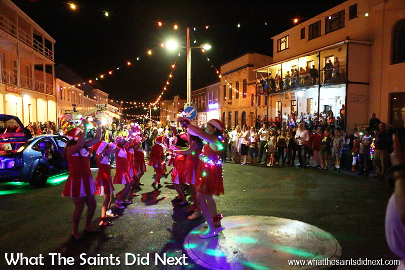 St Helena Festival of Lights 2015 - Dance routines on the Jamestown roundabout.