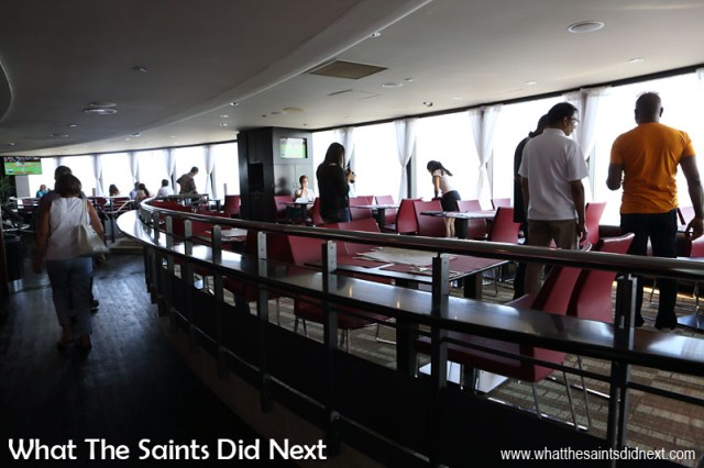 Horizons Restaurant is located on the Lookout Deck level of the Toronto CN Tower. The restaurant has seating for 130 and a party capacity of 300 plus a dance floor.