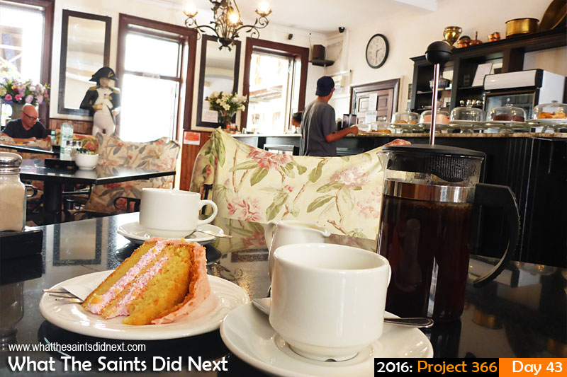 'Like I was there'<br /> 12 Feb 2016, 14:38 - 1/25, f/3.3, ISO-400<br /> Coffee and cake at the cafe.