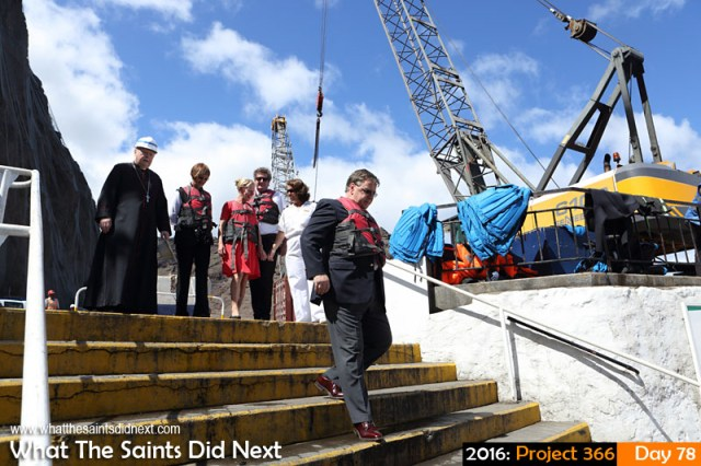 'Two thirds' 18 March 2016, 10:14 - 1/500, f/10, ISO-400 What The Saints Did Next - 2016 Project 366 Governor Mark Capes departing St Helena for the last time after more than four years in office.