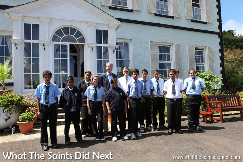 Governor Mark Capes and FCO Director for the Overseas Territories, Dr Peter Hayes, held a discussion session at Plantation House in March, 2013, with a selection of students from Prince Andrew School.  The Governor of St Helena Mark Capes.