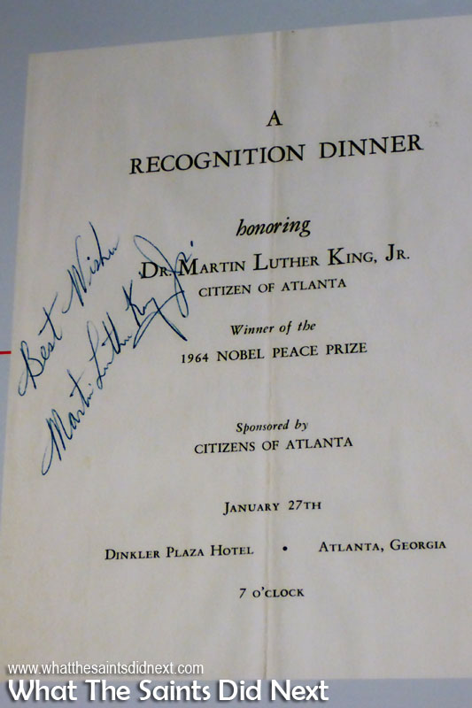 Tickets to this Recognition dinner organised by the Citizens of Atlanta in honour of Dr Martin Luther King Jr in 1964 were not being bought. That is until the president of Coca-Cola threatened to withdraw his business from the city, then dinner tickets were immediately sold out.