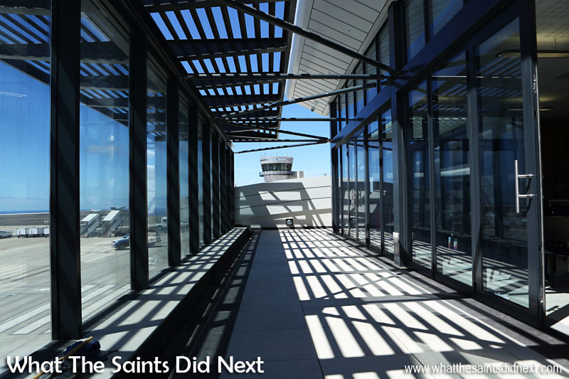 The Viewing Deck on the first floor of the St Helena Airport is sure to be a popular place on flight days.