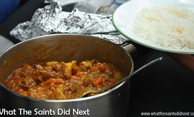 Goat Meat Curry To Celebrate The First Jet Plane Landing On St Helena