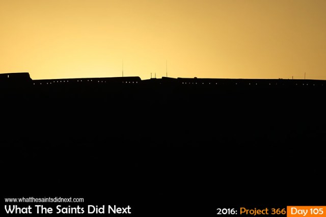 'Tokyo' 14 April 2016, 17:57 - 1/2000, f/9, ISO-200 What The Saints Did Next - 2016 Project 366 High Knoll Fort on St Helena at sunset.