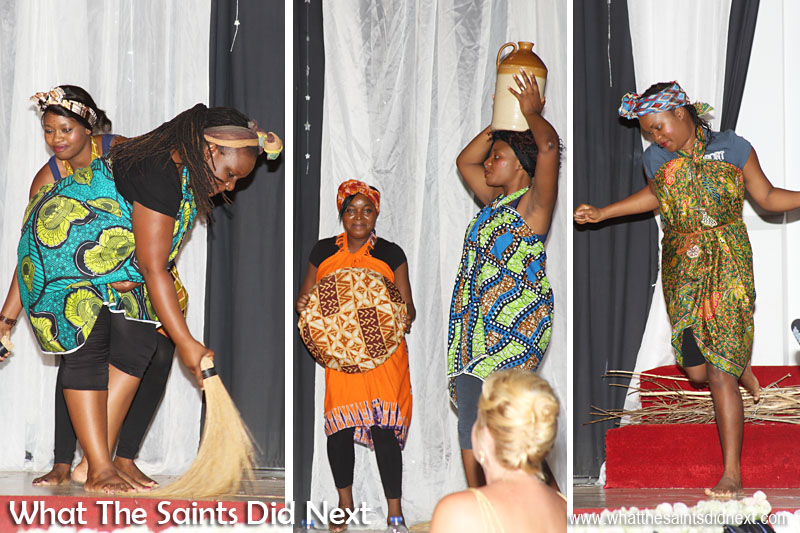 'African Queens' performance at Miss St Helena 2016, part of the interval entertainment.