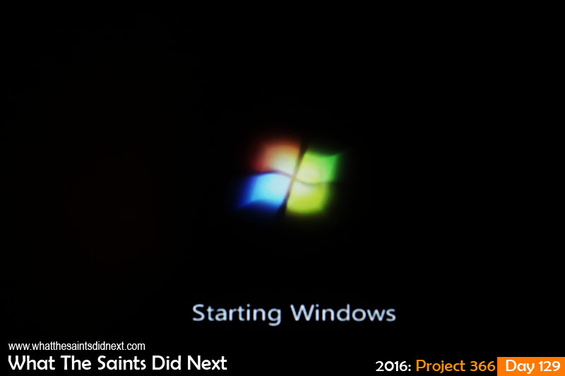 'Nights' 8 May 2016, 23:58 - 1/125, f/4, ISO-800 What The Saints Did Next - 2016 Project 366 Booting up for night shift.