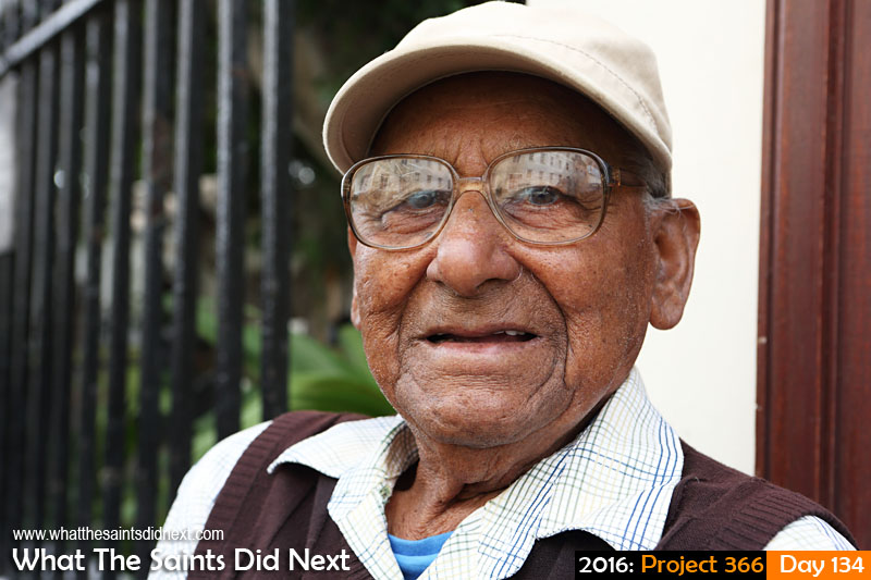 'Ganges'<br /> 13 May, 2016, 11:25 - 1/160, f/6.3, ISO-200<br /> Charlie Henry on Main Street, sharing plenty of amazing life stories.