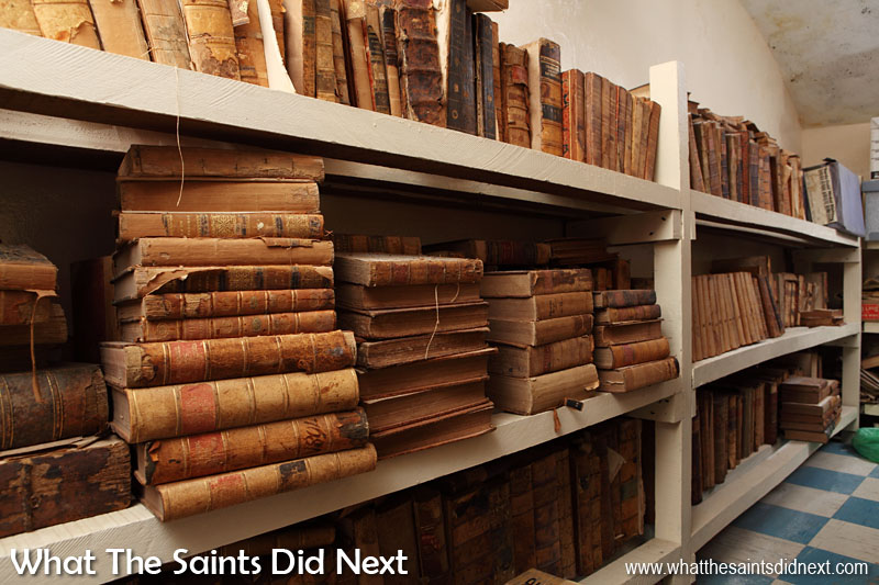 The Archives, located in the basement of The Castle, in Jamestown, a real treasure trove of St Helena history.