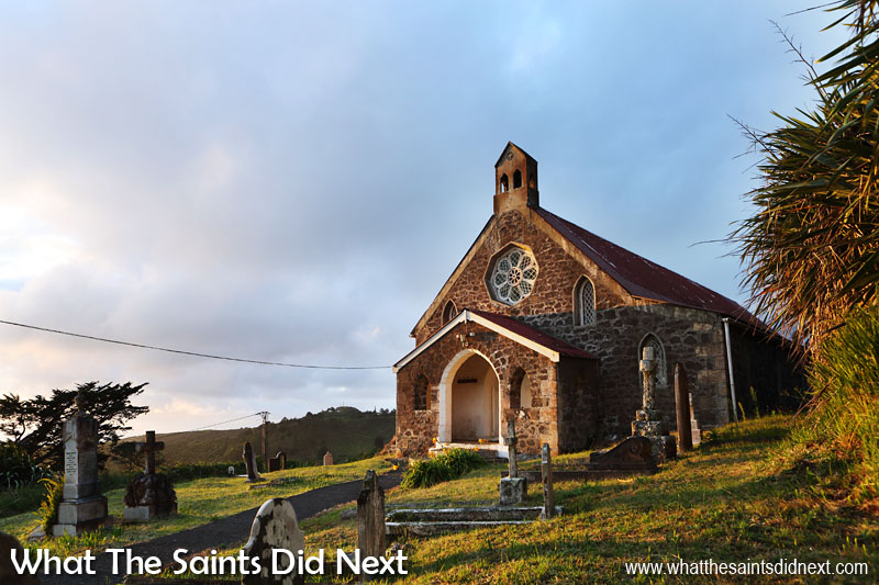 16 Pictures Celebrating St Helena Day 2016. Early morning sunshine falling on St Matthew's Church at Hutts Gate. Taken at 6.52am, this was quite a calm morning. This part of the island can be rather breezy in the morning with wind sweeping across from Alarm Hill and down off the central peaks.