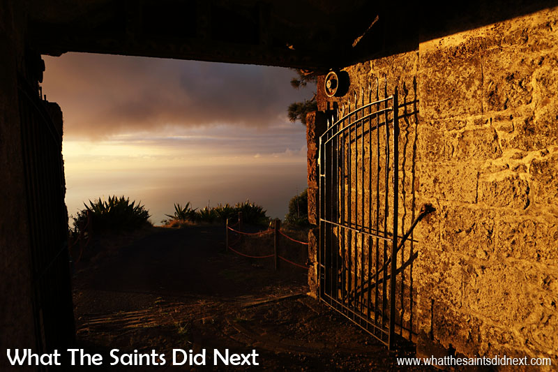 16 Pictures Celebrating St Helena Day 2016. Sunset at High Knoll Fort, one of the island's most accessible and intact fortifications, located in St Paul's district.
