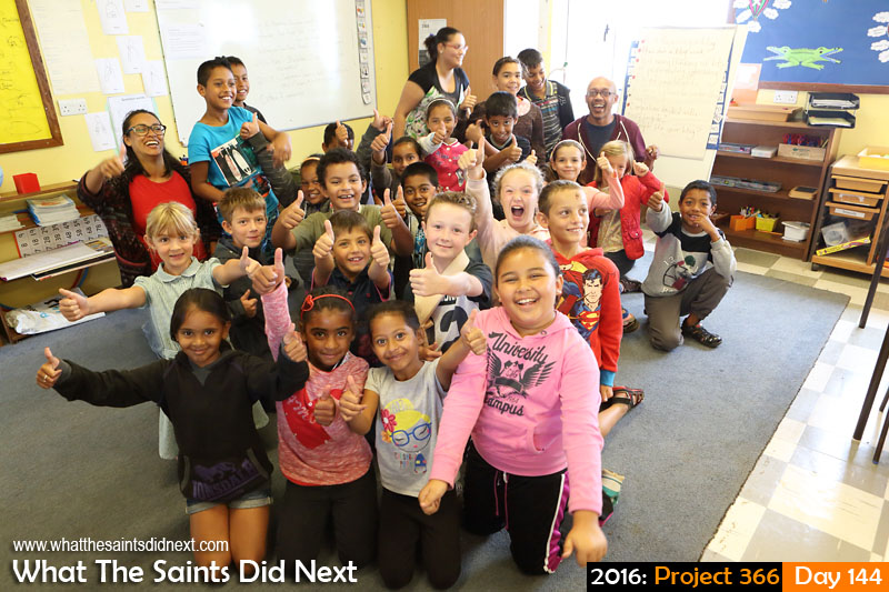 '...the bones?'<br /> 23 May, 2016, 11:42 - 1/60, f/8, ISO-800<br /> WTSDN with pupils at Harford Primary School.
