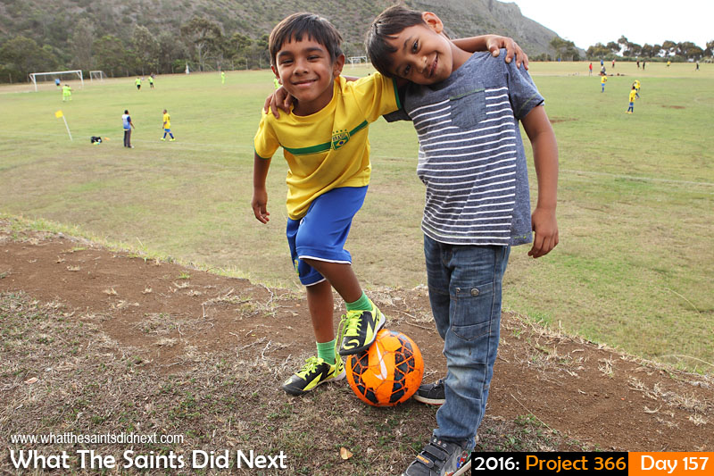 'Tilbury' 5 June 2016, 15:26 - 1/125, f/8, ISO-200 What The Saints Did Next - 2016 Project 366 Children enjoying a day out at a football match on Francis Plain, St Helena.